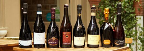 "‏@inparma: ""The very best 8 #Lambrusco all by the glass during #LambruscoDay"""
