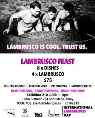 """@LadroRestaurant: """"Lambrusco is cool. Trust us."""""""
