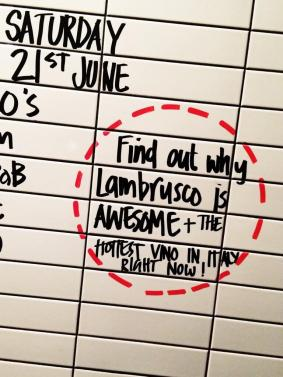 "@LadroRestaurant: ""Lambrusco is awesome."""