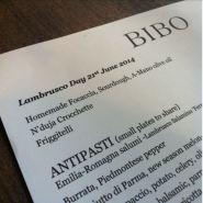Lambrusco Day 2014 at Bibo, London, UK