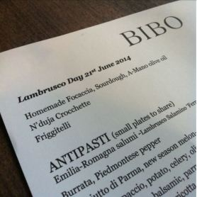 Lambrusco Day 2014 at Bibo, London, UK