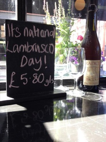 Lambrusco Day 2014 at The 3 Crowns, London, UK