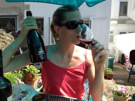 Lambrusco Day 2014 | Kilgarriff with her favorite Lambrusco.