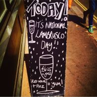 Lambrusco Day at Vinoteca, London, UK