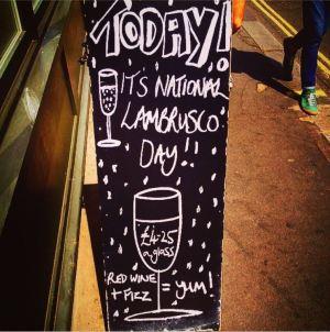Lambrusco Day at Vinoteca, London, UK